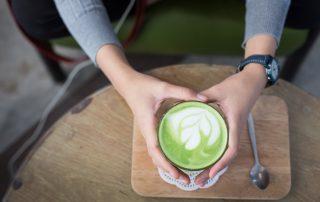Matcha latte Grüntee für Anfänger
