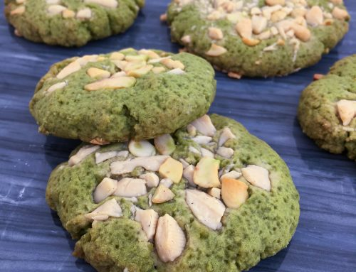 Matcha white chocolate cashew cookies | English recipe below | vegan
