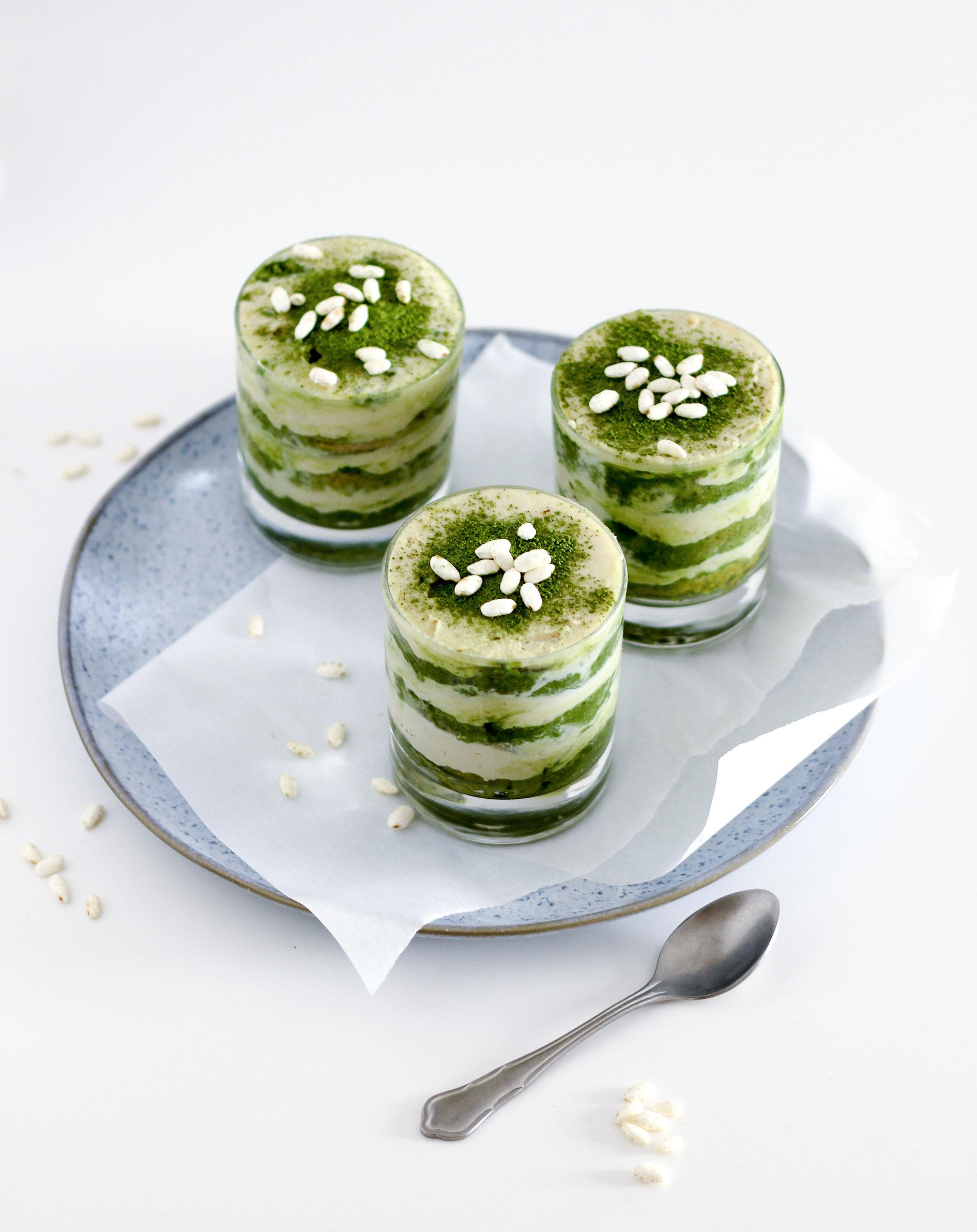 Tiramisu Matcha vegan Rezept