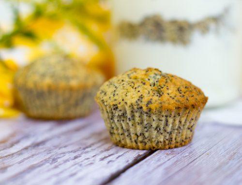Vegane Zitronen-Mohn-Muffins – zuckerfrei